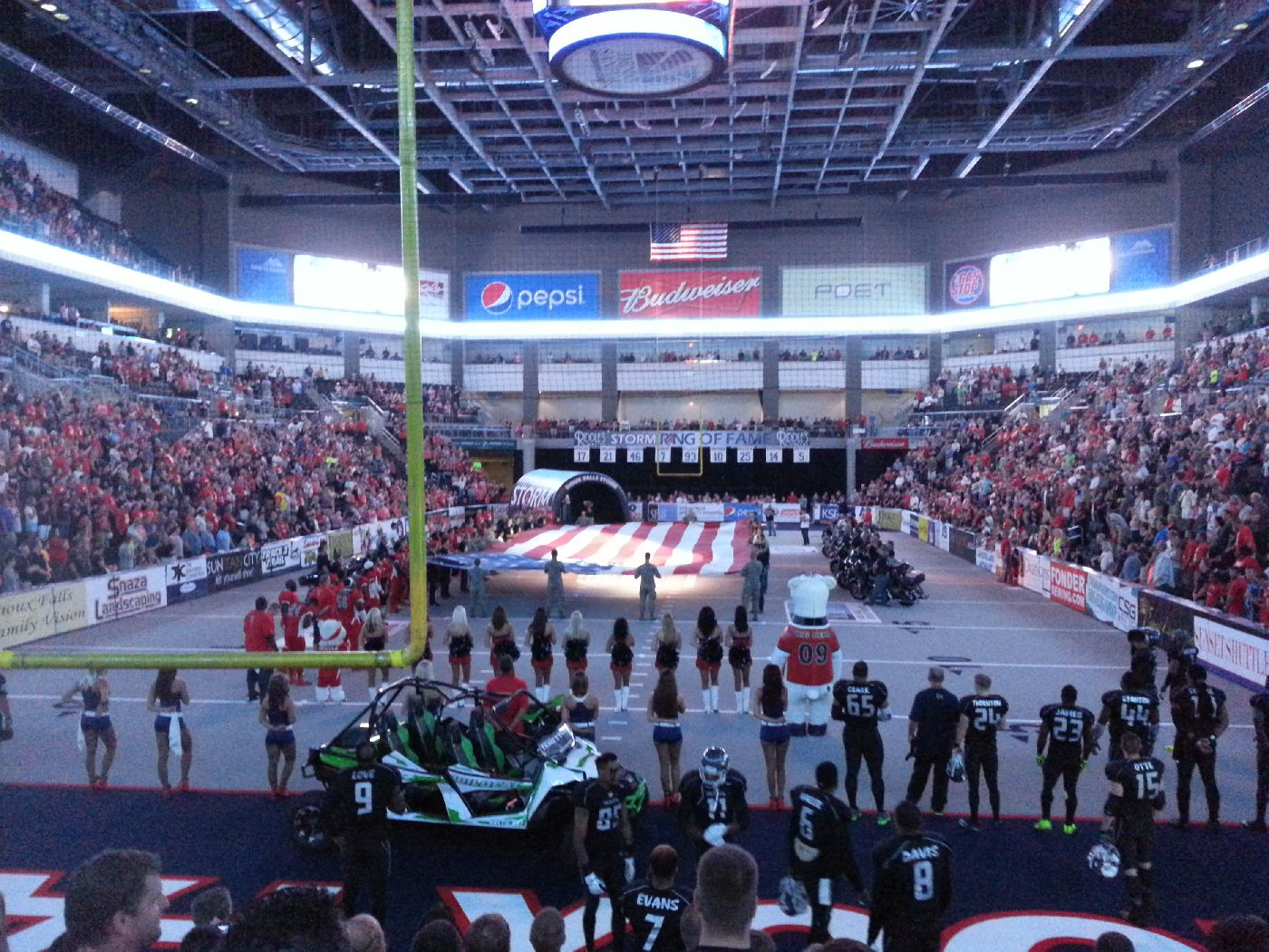 The Sioux Falls Storm hosts the 2015 United Bowl